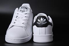 黑尾 史密斯真标 史密斯二层真标 史密斯头层真标 阿迪达斯史密斯 黑尾 真标头层皮含半码 可扫描 35-44 adidas stan smith