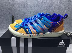 实拍 〖夏季主推〗Adidas喷彩涉水鞋蓝橘40-44出货