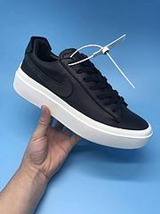 公司级!Nike Grand Volee 系列头层牛皮材质 黑白真标带半码36-44