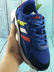 "Adidas TRESC RUN男女运动鞋 阿迪达斯巴斯夫真爆 ""火焰山"" 宝蓝 36--45 真标带半码"