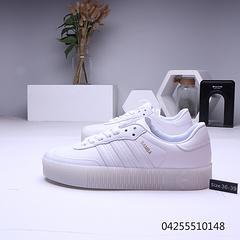 阿迪达斯ADIDAS 三叶草SAMBAROSE厚底松糕板鞋 全白36-39
