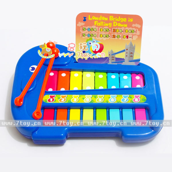 敲歌谱生日歌- 弹敲2用 带乐谱 儿童益智玩具