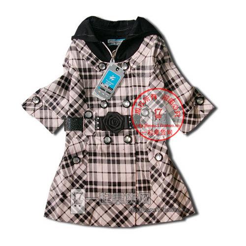 09703格子风衣