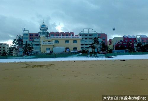 山东大学威海分校雪景图片