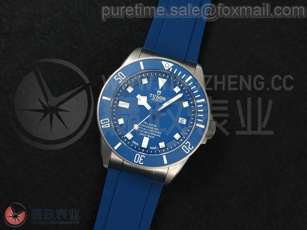 【Cal.MT5612机芯/战斧】 领潜系列 战斧(PELAGOS)M25600TB-0001 42mm/蓝色陶瓷表圈/蓝色表盘/钛金属表壳1:1/蓝色橡胶表带/仿制Cal.MT5612自动上链机芯