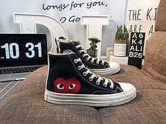 CDG Play x CONVERSE 1970s  匡威川久保玲 play爱心联名帆布鞋  原盒原标 AKALI B25217JXF