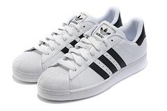 官方真标经典款 Adidas Superstar II 阿迪达斯 三叶草 贝壳头 陈奕迅 头层皮 白黑 情侣鞋36-44 G17068