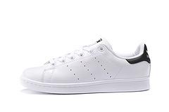 真标原盒Adidas Originals stan smith 阿迪达斯 史密斯 头层皮 白黑尾 男女36-44 货号 S75213
