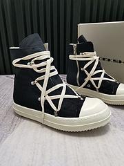 欧文斯RickOwens情侣款几何图形五芒星铆钉拉链休闲板鞋高帮短靴经典复刻懂货的看形体秒杀市面一切版本前翘腰身后尾完美比例打造高端定制完美复刻专柜什么样我们就什么样支持对比
