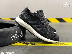 阿迪达斯ADIDASPUREBOOST折叠编织面一代爆米花减震中底运动休闲鞋编号0324VZG39OP