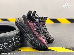 阿迪达斯童鞋满天星3M反光鞋带和鞋面椰子350V2YEEZYBOOST350编织面透明蕾丝LOGO爆米花减震中底运动休闲鞋编号10071XVX15QPT