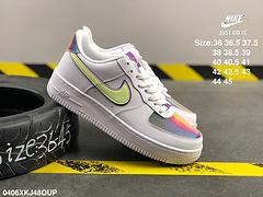 耐克公司级真标头层皮内置气垫NikeAirForce1AF1复活节彩蛋镭射空军一号低帮板鞋CW0367100编号0406XKJ48QUP