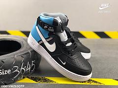 耐克空军一号NikeAirForce1Mid07Le货号CI2146001拼色渐变皮面高帮板鞋编号10061VMZ63QTP