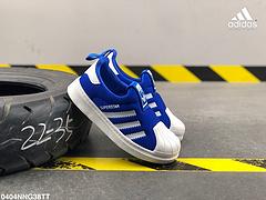 阿迪达斯SUPERSTAR360C织物面一脚蹬贝壳头童鞋编号0404NNG38TT