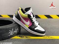 耐克乔丹一代AJ1二层皮皮面低帮板鞋编号0415HMN69QEP
