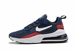 耐克NikeAirMax270React270瑞亚后半掌气垫百搭运动慢跑鞋白蓝红4046