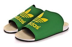 Adidas 阿迪达斯 三叶草 新款夜光拖鞋 绿色39-45