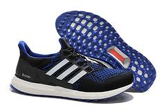 adidas阿迪达斯2015年男女款Ultra Boost运动爆米花跑步鞋B27171 1405-5 黑宝蓝40-44