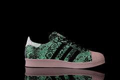 阿迪达斯三叶草Atmos x Adidas Superstar 80s G-SNK7 7代 3M夜光黑蛇超A品质36-44M25976