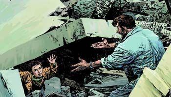 地震中的父与子