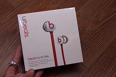 连接线urBeats 入耳式 连接线耳机 发烧级音质   白红