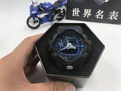 正品原单卡西欧手表casio g-shock GA-700系列 黑蓝