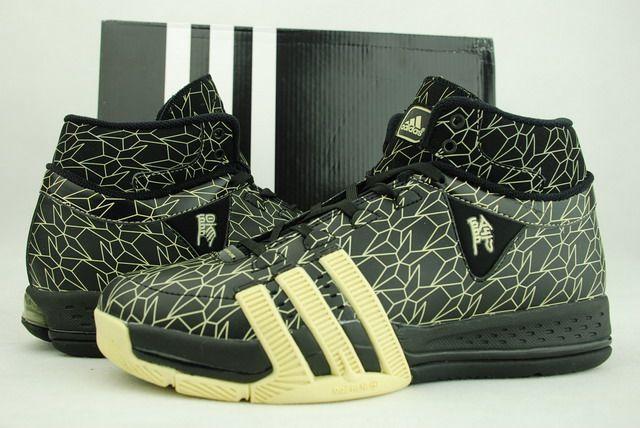 正品阿迪达斯Adidas T MAC 8麦迪8代篮球鞋黑黄