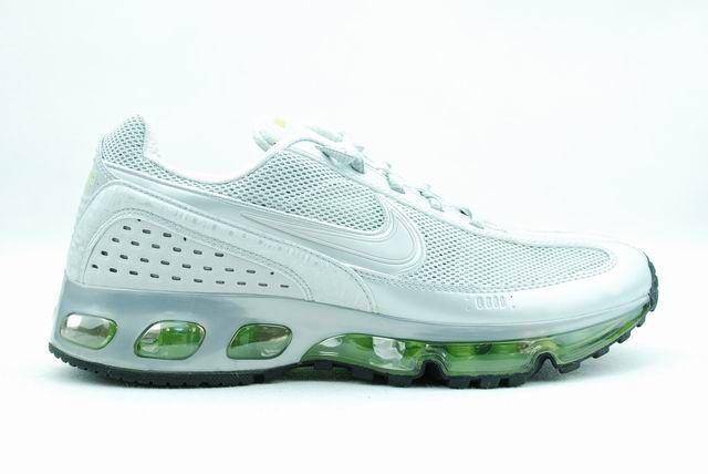 正品耐克2006款跑鞋Nike 全掌气垫跑步鞋白浅绿男款