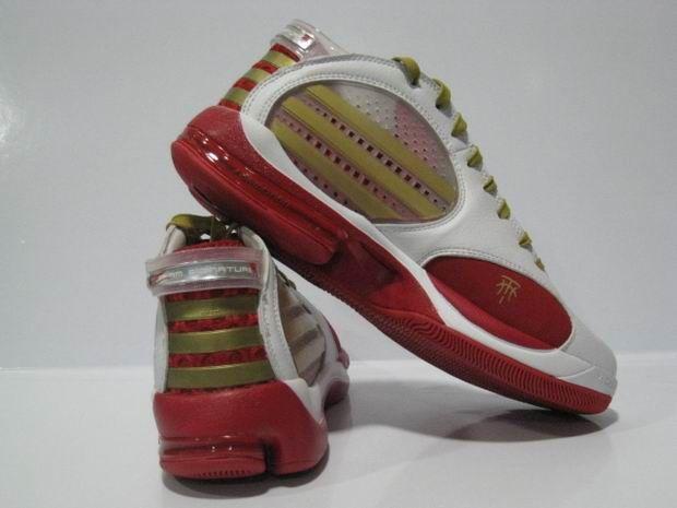 正品阿迪达斯Adidas NBA球星T MAC 9麦迪9代篮球鞋白红金