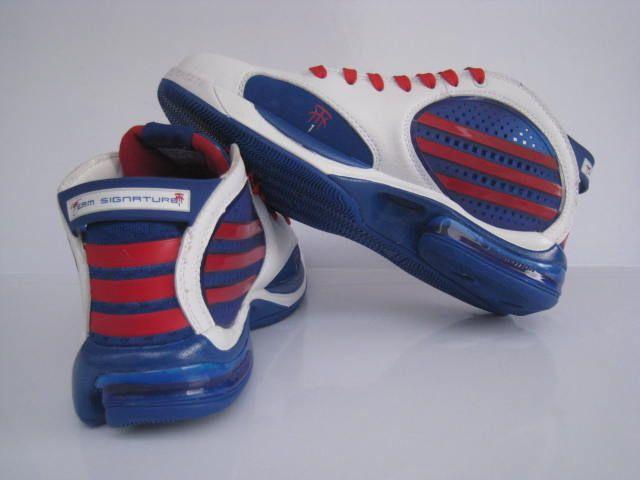 正品阿迪达斯Adidas NBA球星T MAC 9麦迪9代篮球鞋白宝蓝红