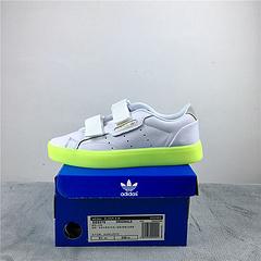 阿迪三叶草荧光绿果冻鞋36402019SLEEKS货号EE8279
