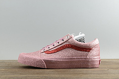 虎扑版范斯VAULTXOC亮闪粉色板鞋blingbling高端联名款万斯