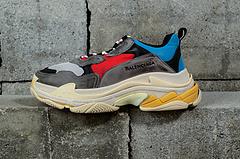 灰红做旧正确版复古巴黎世家运动鞋BalenciagaTripleS483513W06E34365
