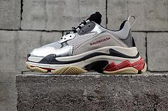 黑银做旧正确版复古巴黎世家运动鞋BalenciagaTripleS