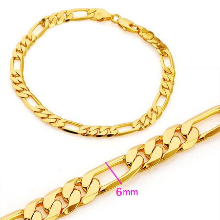 Hot Jewelry Men S Solid Fine 18k Yellow Gold Filled Gp Bracelet Bracelets Chain Evening Party Wear