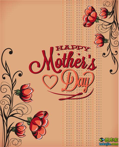 母亲节 母亲节广告 母亲节海报 花朵背景 矢量82