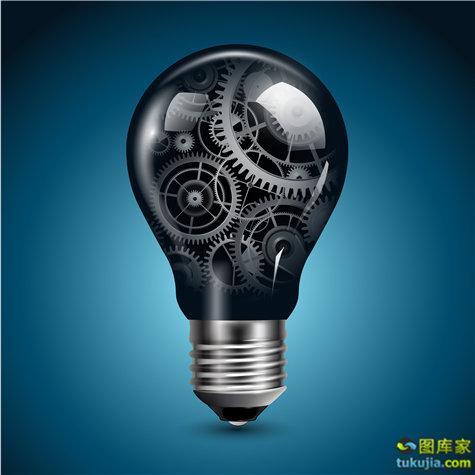 商业创意 创意图标 创意 灯泡 idea 灵感 矢量28