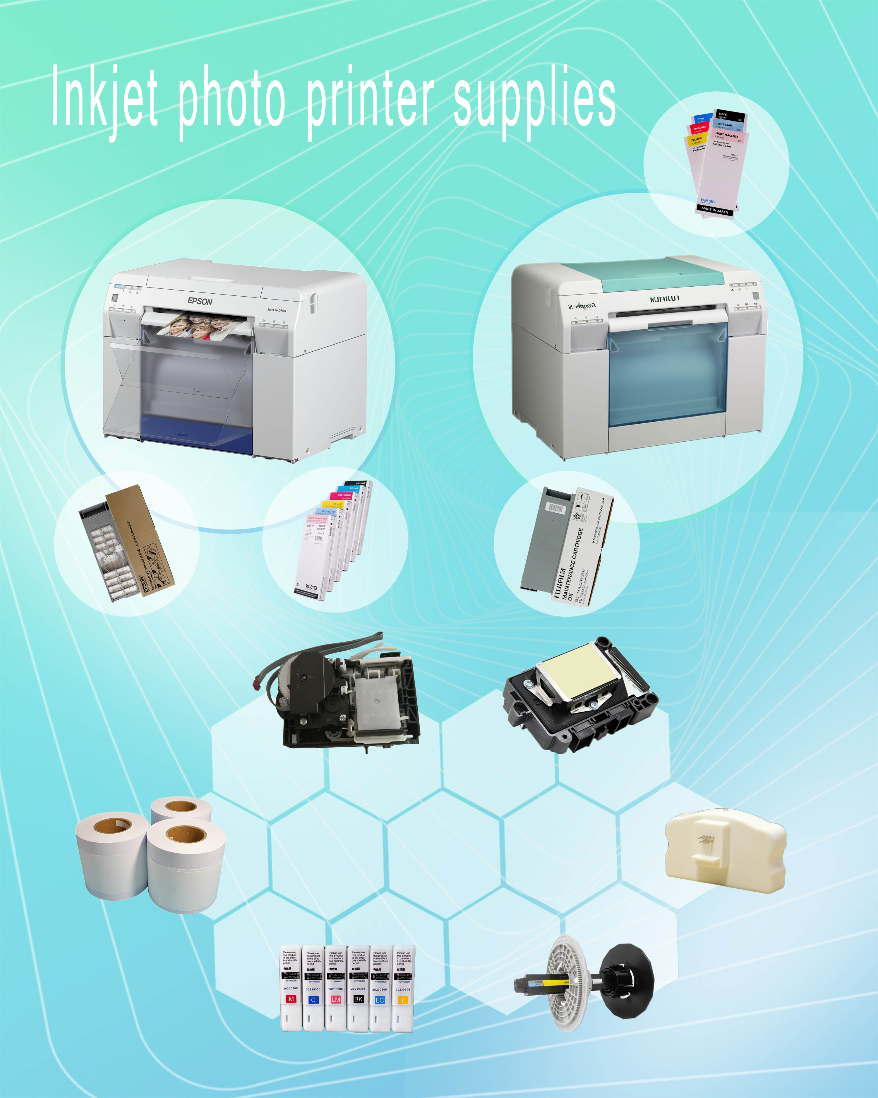 Dry expanding color printer