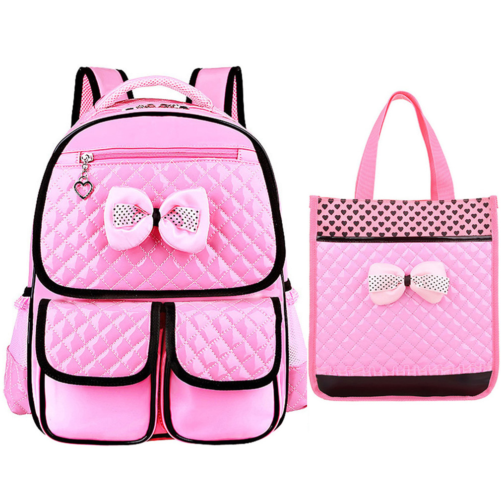 7583ed60337f 2Pcs Grade 3-6 Kids Girls Primary School Backpack + Handbag Children Teens  School Bag Book Bag black   Kilimall Kenya