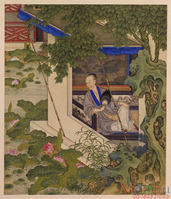 GH6040202古画册页雍正行乐图十六开人物图片-52M-3972X4615