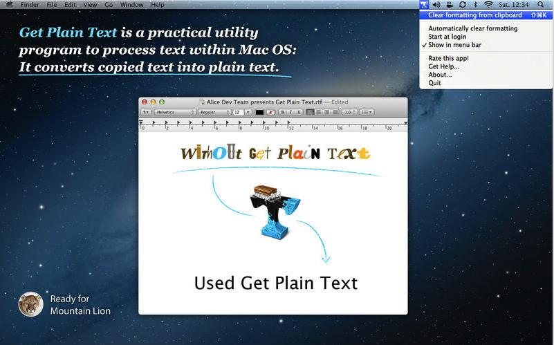 Get Plain text