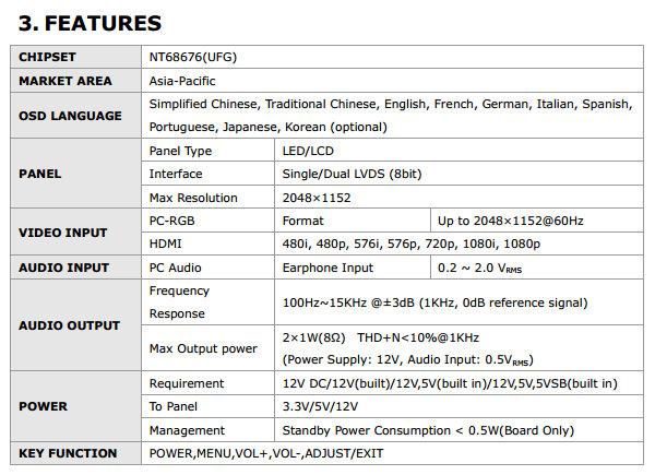 8.9inch 1280x768 N089A1-L01 Rev.C1 HT089WX1-100 HDMI DVI VGA Audio Board