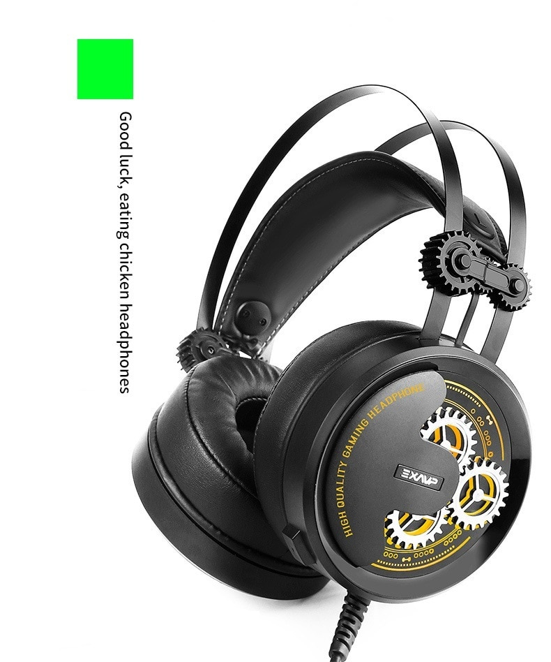 music spectrum luminous wired gaming headphone