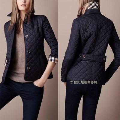 Burberry women's slim quilted jacket coat S-XXXL C51