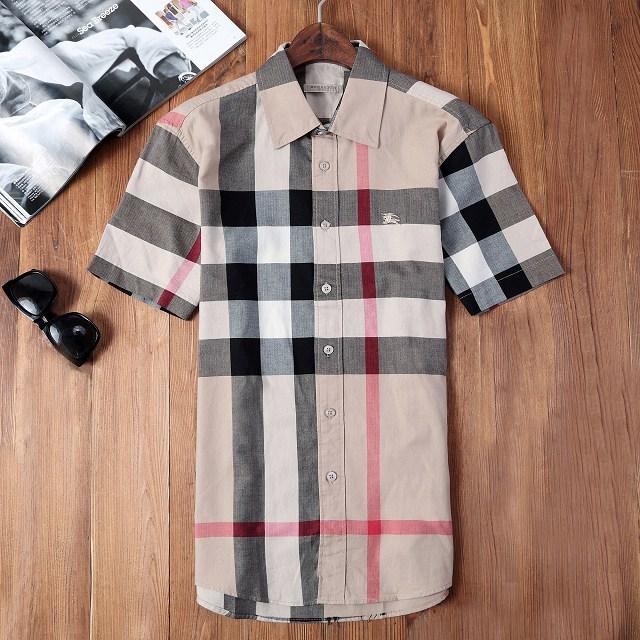 Burberry men s cotton short sleeve shirt top S-XXXL C42 ca32443a22b
