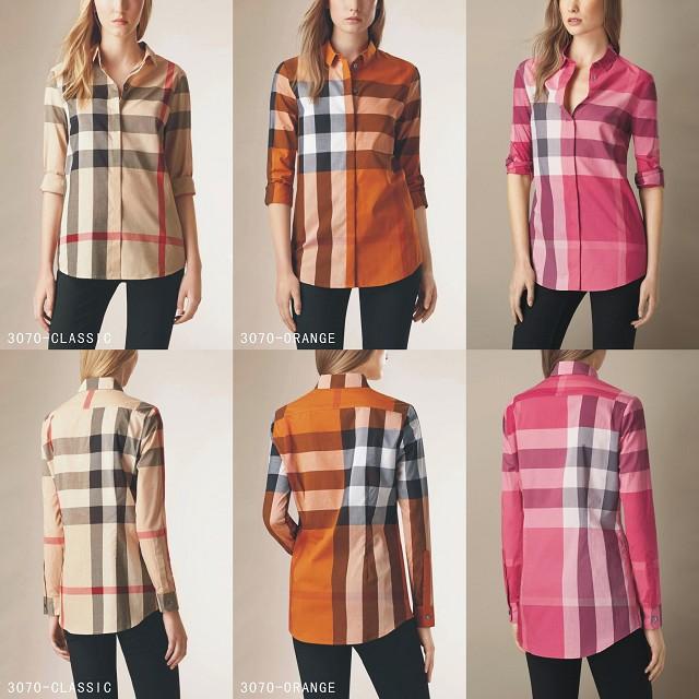 Burberry women s cotton long sleeve shirt top C10 56101d1f751