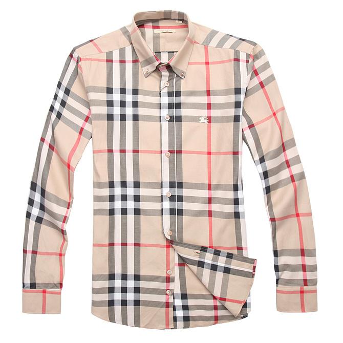 Burberry men's cotton long sleeve shirt top C5