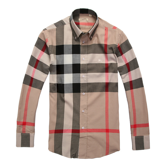 Burberry men's cotton long sleeve shirt top C4
