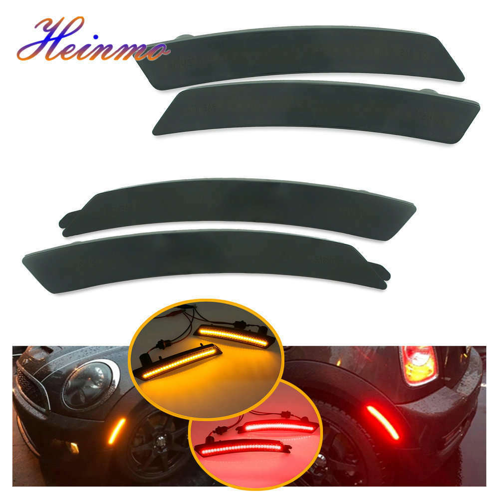 2× Smoked Dynamic Flowing LED Side Marker Signal Light FOR BMW MINI COOPER R56
