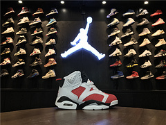 乔丹AirJordan童鞋aj6AJ6乔6乔丹6乔丹6代高帮篮球鞋童鞋AirJordan6乔6胭脂红2835